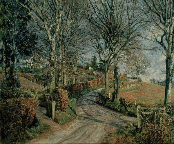The Road to Millhill, Angus, 1956 (oil on canvas)