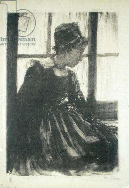 Young Breton Woman, 1910 (litho)