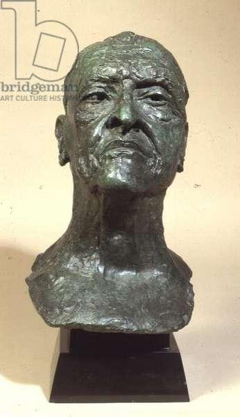 Portrait head of Somerset Maugham (1874-1965) (bronze)