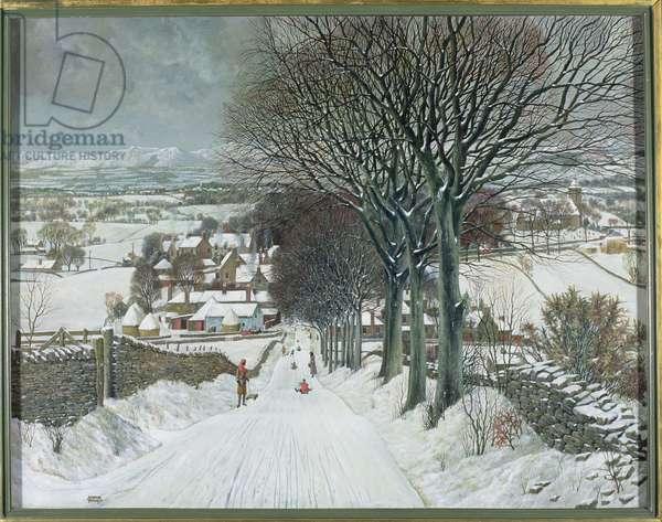 Sidlaw Village, Winter, 1936 (oil on canvas)