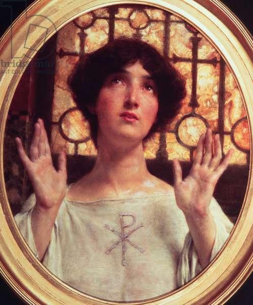 Orante, 1907 (oil on panel)