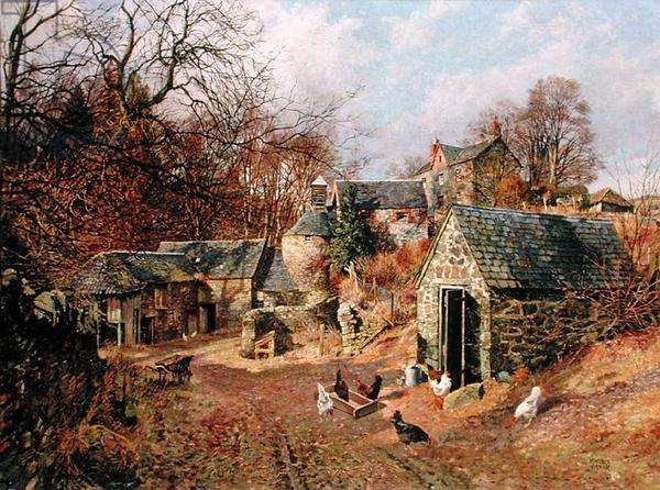 Knapp Mill, Rossie Priory, 1950 (oil on canvas)