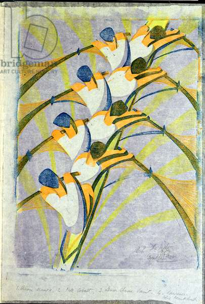 The Eight, c.1930 (linocut)
