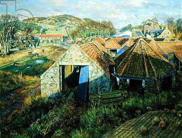 Near Luthrie, Fife, 1979 (oil on canvas)