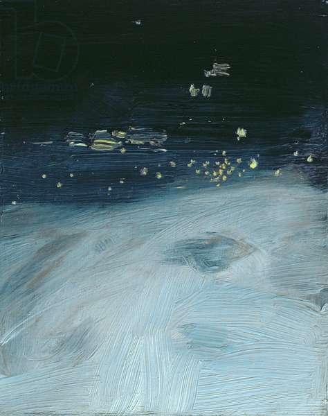 The Forth near Edinburgh, Evening, c.1903-05 (oil on board)
