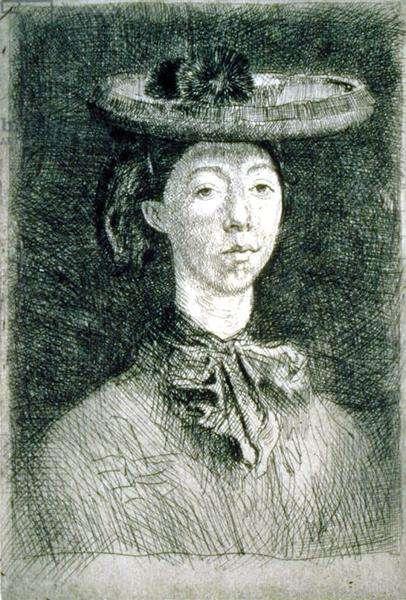 Gwendolen, 1902 (etching)