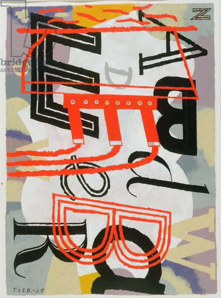 Tribute to Edward Bawden, 1992 (acrylic on canvas)
