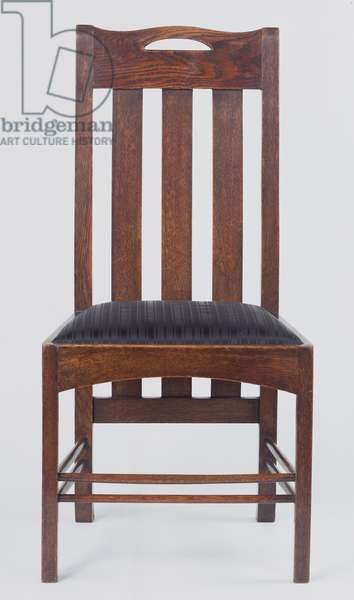 Side chair, one of a pair, made for Miss Cranston's Argyle Street Tearooms, Glasgow, 1896 (oak)