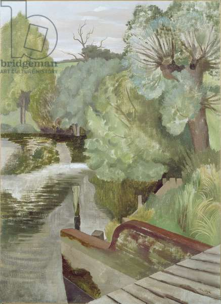 The Sluice, Wormingford Mill, c.1932 (oil on canvas)