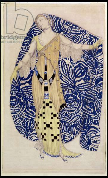 Modern Dress, Dione, 1910 (pencil and w/c)