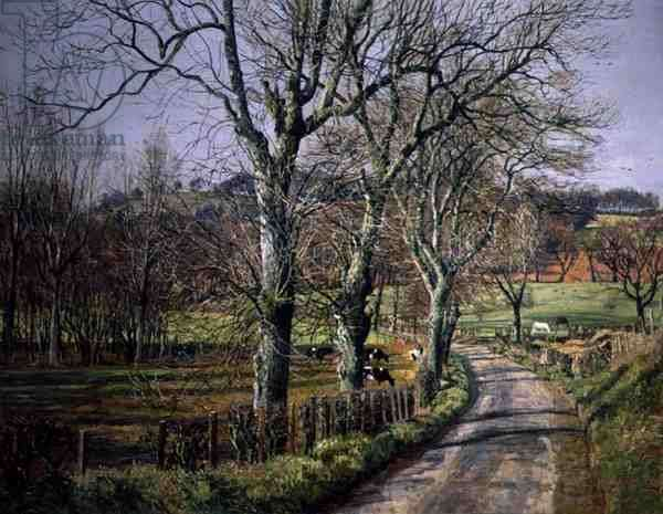 Springtime in Perthshire (oil on canvas)