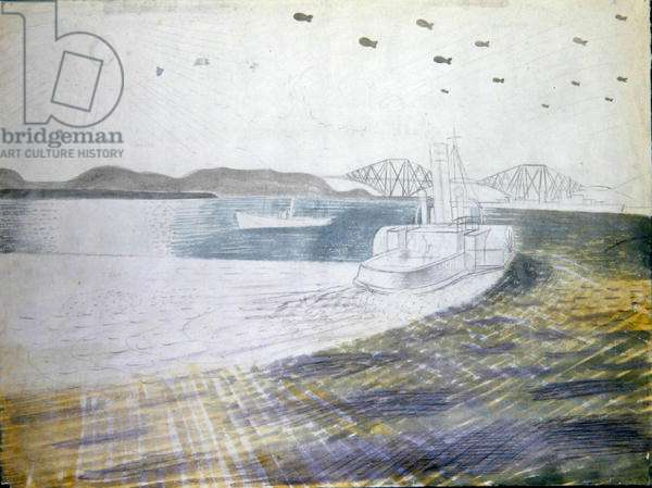 Firth of Forth, 1940 (w/c over pencil on paper) (reverse of 246000)