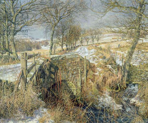 A Snowy Angus Landscape, c.1958 (oil on canvas)