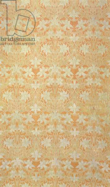 Daffodils, Alexander Morton and Co. for Liberty & Co., c.1895 (silk and wool double cloth)