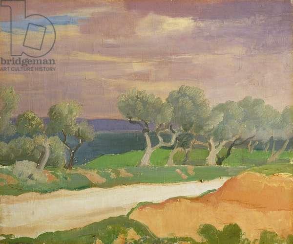 Un Coup de Mistral, Provence, c.1928 (oil on canvas)