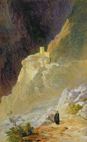 Mount Athos, The Monastery of St. Paul, 1858