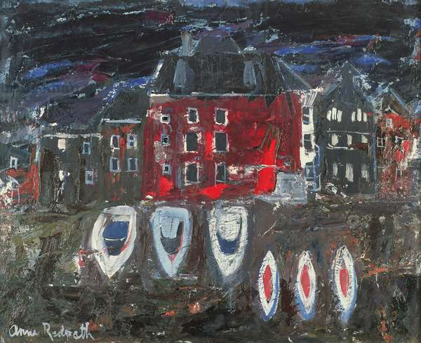 Boatyard, Amsterdam (oil on board)