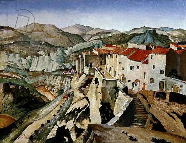 The Ramparts, Les Baux, 1928 (oil on canvas)