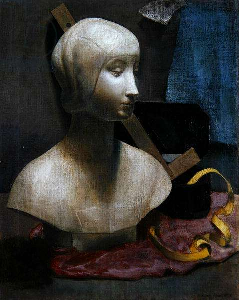 Still Life with Plaster Bust and Measuring Tape, c.1935 (oil on canvas)