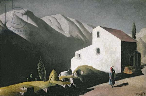 The White House, Assisi, 1934 (oil on board)