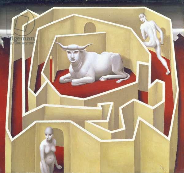 Labyrinth, 1927 (tempera on card)