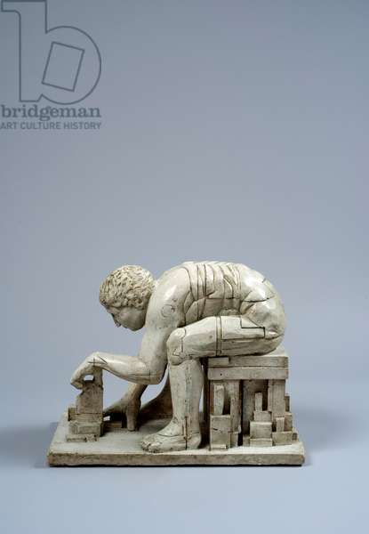 Maquette for Newton (After Blake), 1998 (plaster)