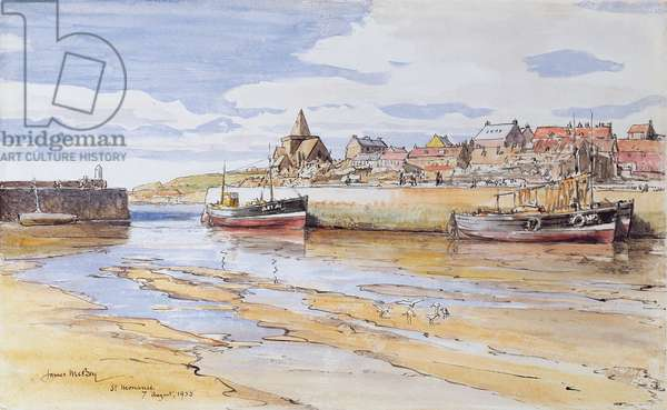 St. Monance, Fife, 1955 (w/c on paper)