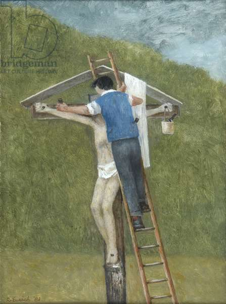 Clearing the Cross, 1983 (oil on board)