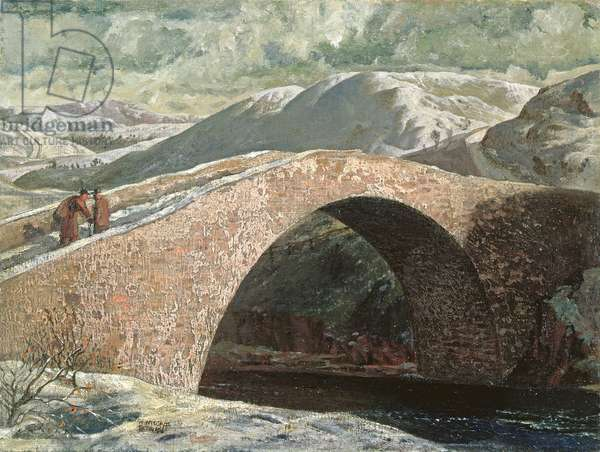 General Wade's Bridge, Glen Lethnot, 1935 (oil on board)