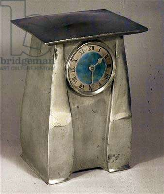 Clock case by Liberty and Company, c.1900 (pewter)