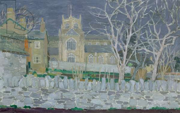 Cartmel Priory, c.1955 (oil on canvas)