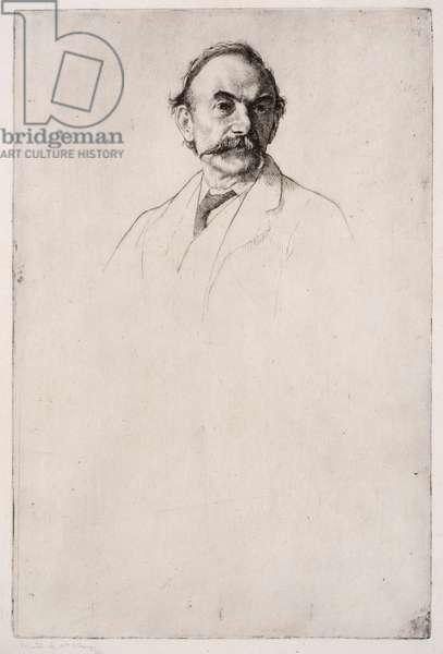 Portrait of Thomas Hardy No.1, 1893 (etching)