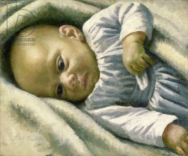 A Baby (oil on canvas)