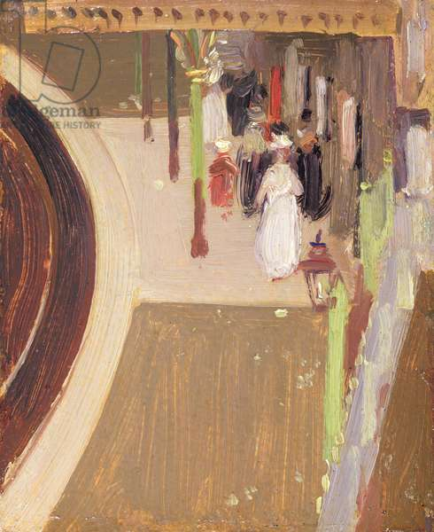 The Railway Station, 1911 (oil on canvas)