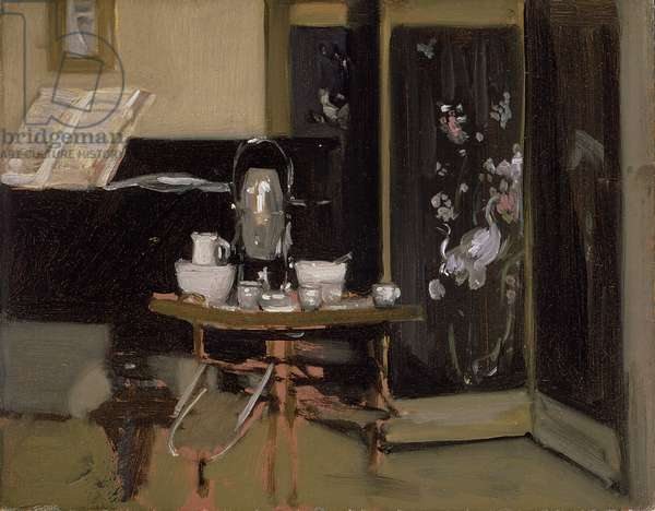 After Dinner Coffee, c.1904 (oil on board)