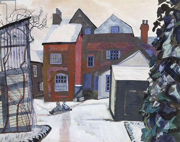 Great Bardfield, 1955 (w/c on paper)