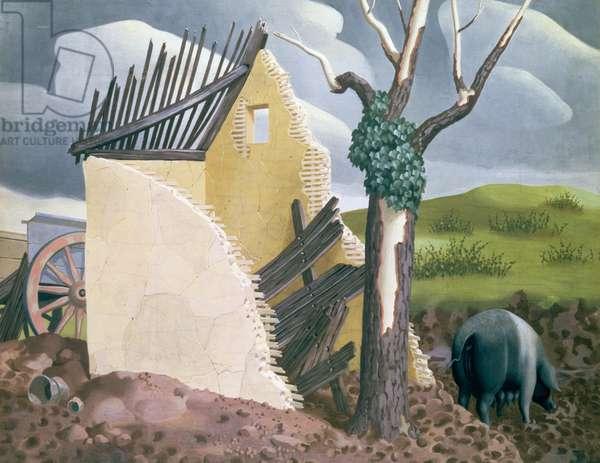 Essex, 1940 (tempera)