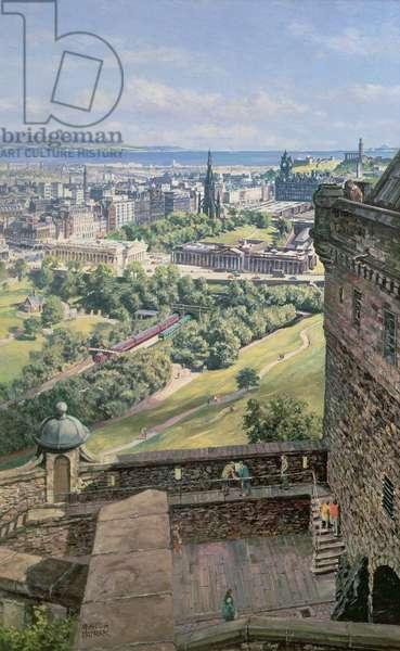 Edinburgh from the Castle battlements