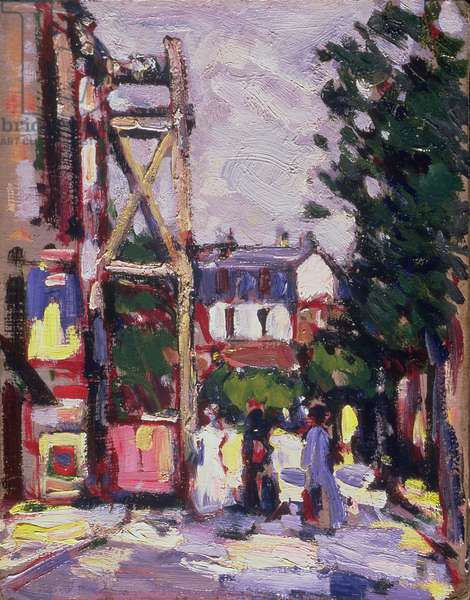 Boulevard Edgar Quinet, Paris, c.1907 (oil on board)