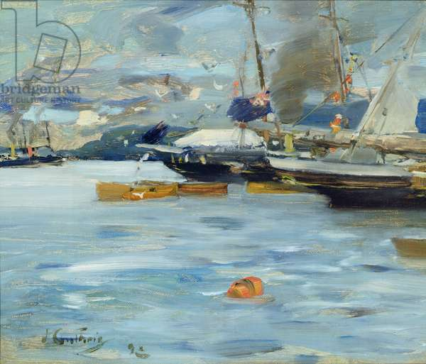 Moored Yachts, Oban, 1893 (oil on canvas)