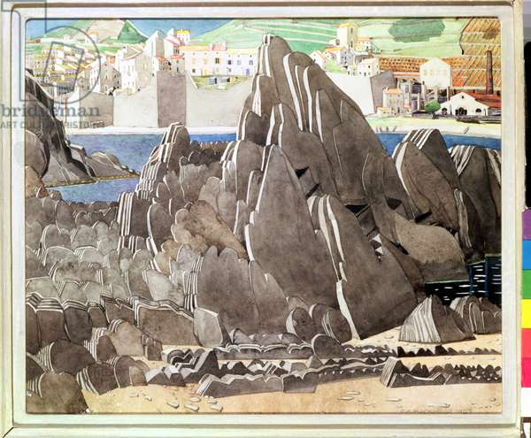 The Rocks, 1927 (pencil & w/c on paper)