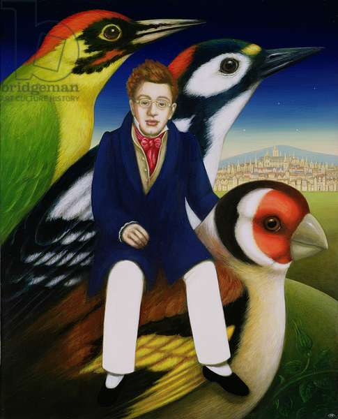 Schubert and the language of birds, 2000 (oil & tempera on panel)