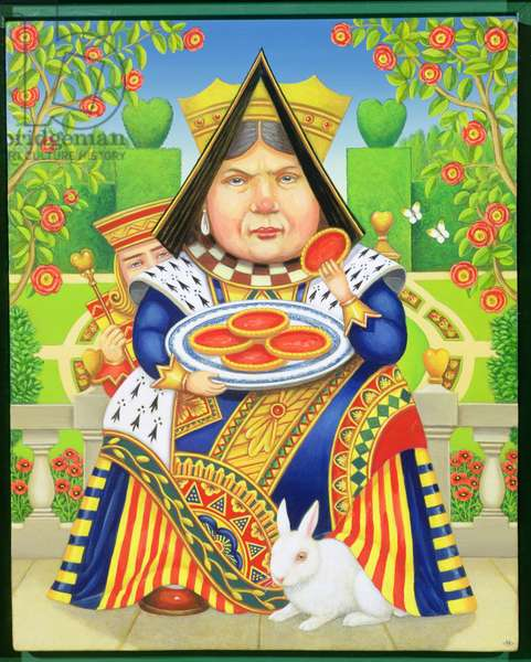 The Queen of Hearts, 2001 (oil on panel)