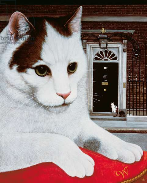 Wilberforce, the Number 10 Cat, 1987 (oil and tempera on panel)