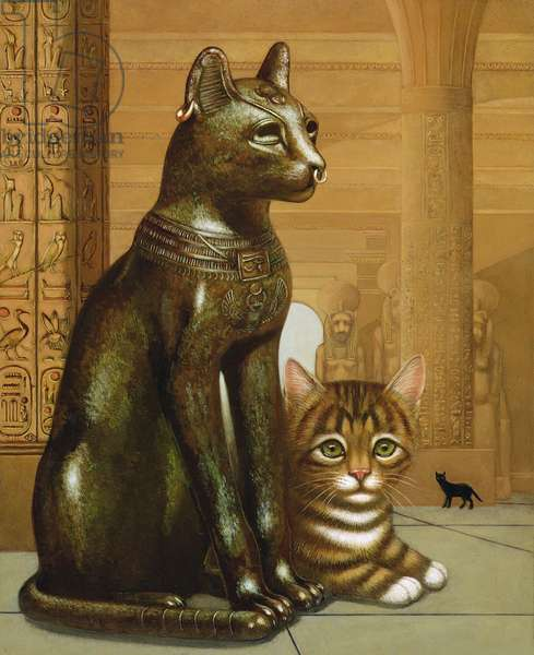 Mike the British Museum Kitten, 1995 (oil & tempera on panel)