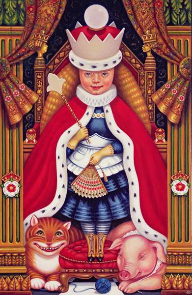 Queen Alice, 2008 (oil and tempera on panel)