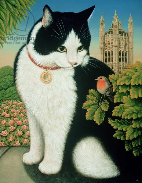 Humphrey, the Downing Street Cat, 1995 (oil & tempera on panel)