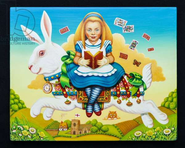 Alice and the White Rabbit, 2013 (oil and tempera on panel)