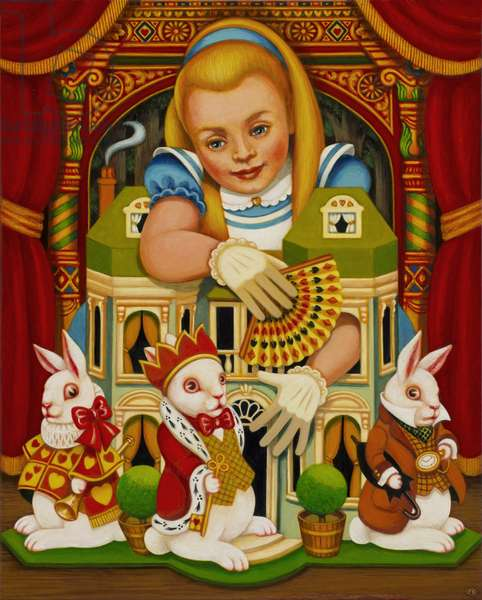 The White Rabbit's House, 2015 (oils and tempera on panel)
