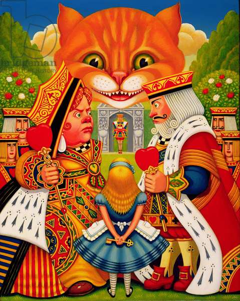 The King and Queen of Hearts, 2010 (oils and tempera on paenl)
